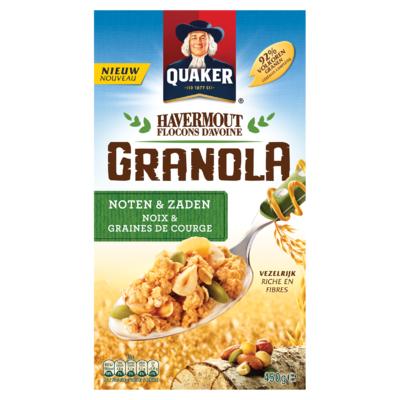 Quaker Havermout Granola Noten & Zaden 450 gr