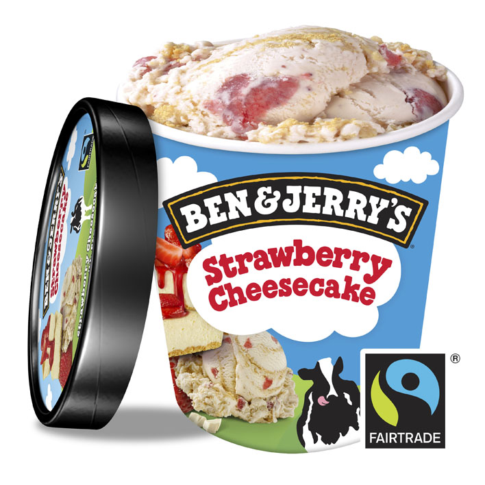 Ben & Jerry's Classic ijs strawberry cheesecake