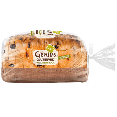 Genius Rozijnenbrood glutenvrij