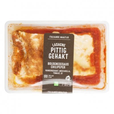 Huismerk Verse lasagne met pittig gehakt