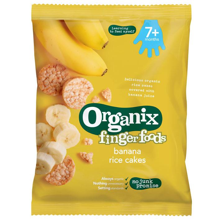Organix Rijstwafels banaan 7+m