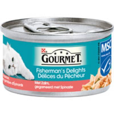 Gourmet Kattenvoer gold mousse konijn-kip-zalm-niertjes