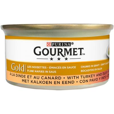 Gourmet Gold Fijne Hapjes in Saus met Kalkoen en Eend 85 g