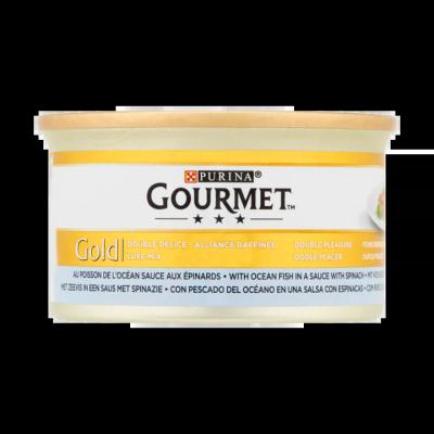 Gourmet Gold Luxe Mix met Zeevis in een Saus met Spinazie