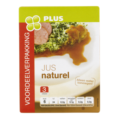PLUS Jus naturel 3-pack