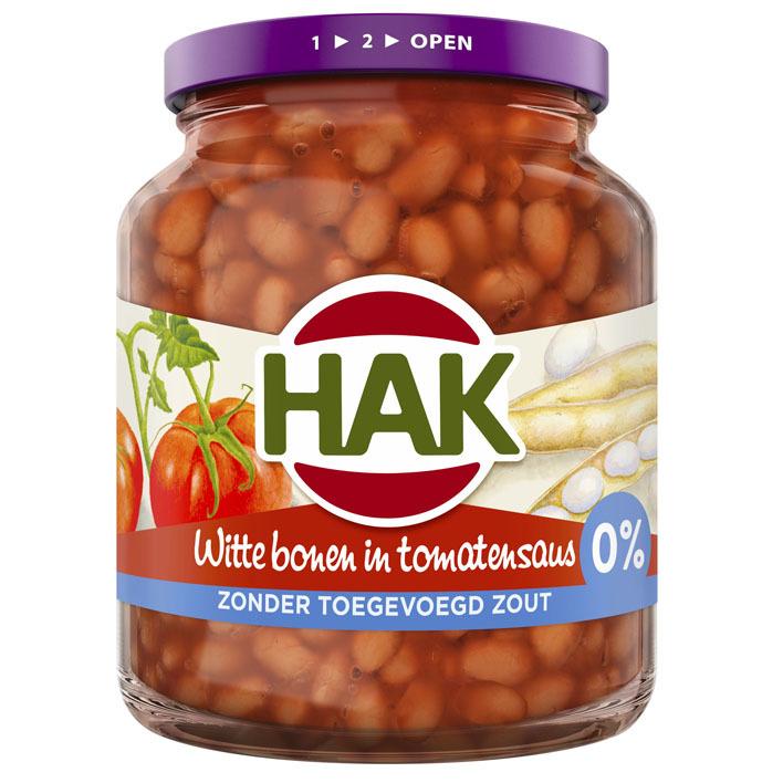 Hak Witte bonen in tomatensaus 0% zout
