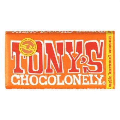 Tony's Chocolonely Melk karamel-zeezout
