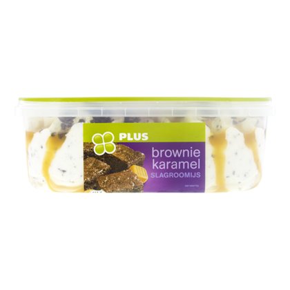 Huismerk Roomijs brownie-caramel