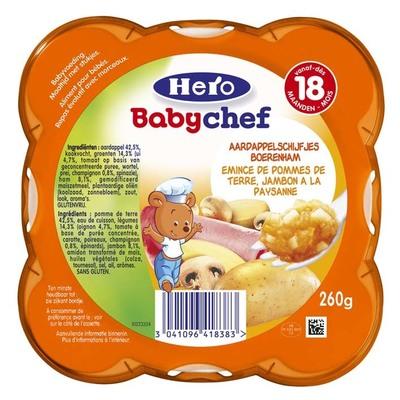 Hero Babychef aardappel-ham 18+