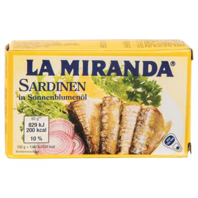 La Miranda Sardines in zonnebloemolie