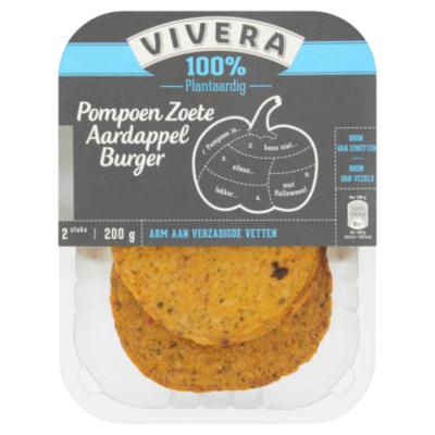 Vivera Pompoen aardappel burger