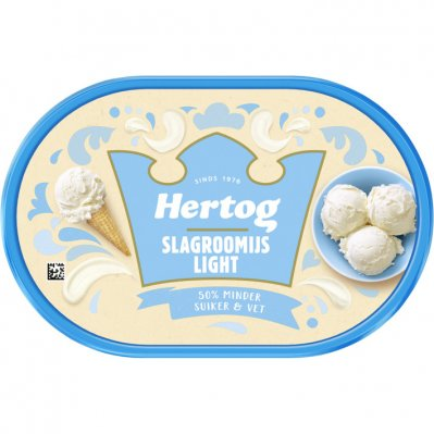 Hertog IJs slagroom light