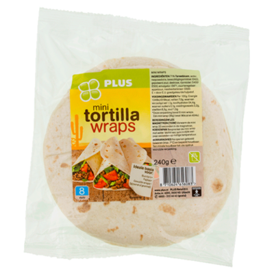 PLUS Mini tortilla Wraps
