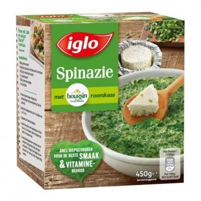 Iglo Fijn gehakte spinazie met boursin