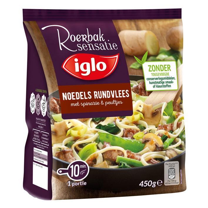Iglo Roerbaksensatie noedels rundvlees
