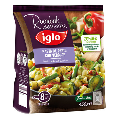 Iglo Roerbaksensatie pasta pesto groenten
