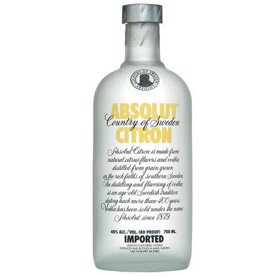 Absolut Citron flavored vodka
