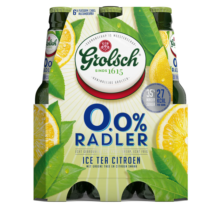 Grolsch 0.0% Radler ice tea citroen