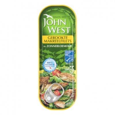 John West Gerookte makreelfilet zonnebloemolie MSC