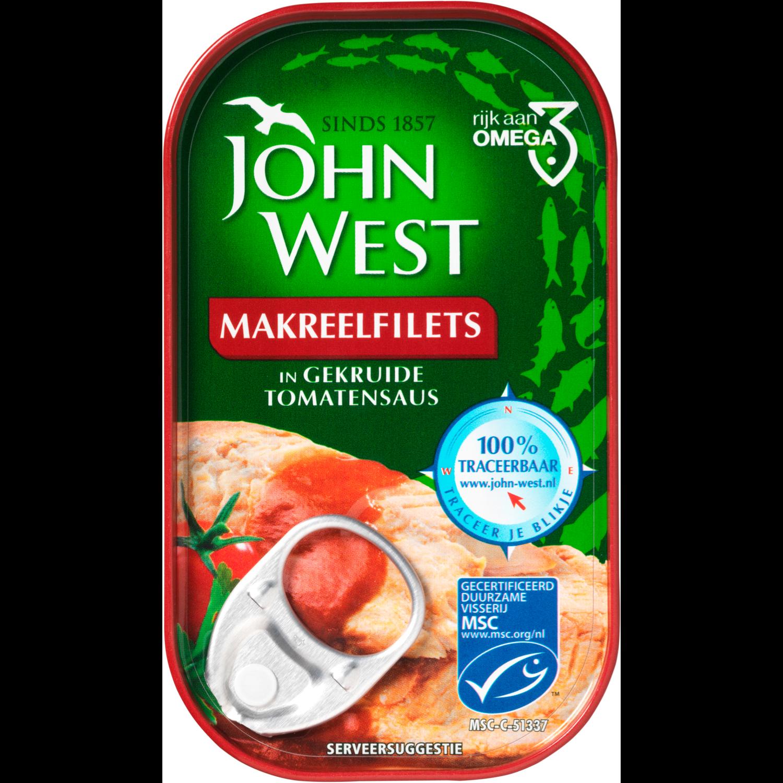John West Makreelfilets in gekruide tomatensaus
