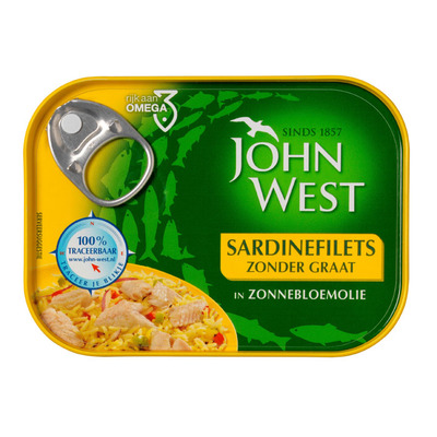 John West Sardinesfilets zonnebloemolie