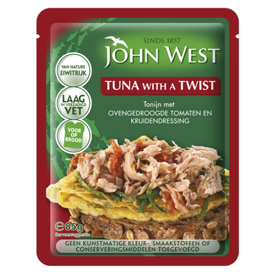 John West Tuna with a twist gedroogde tomaat