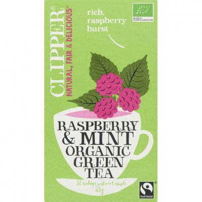 Clipper Organic green tea raspberry-mint 1-kops