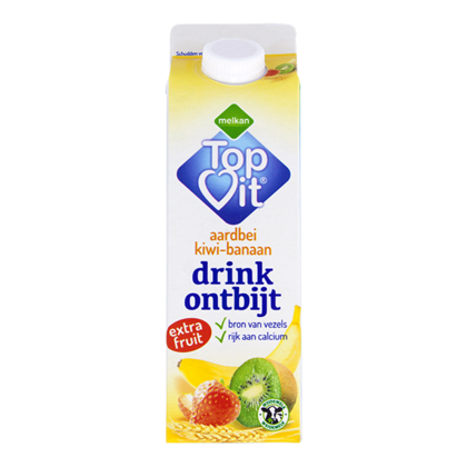 Huismerk Drinkontbijt fruit aardbei-kiwi-banaan