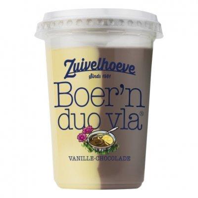 Zuivelhoeve Boer'n vla vanille chocolade beker