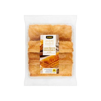 Huismerk aan Tafel met Saucijzen Broodjes 4 Stuks