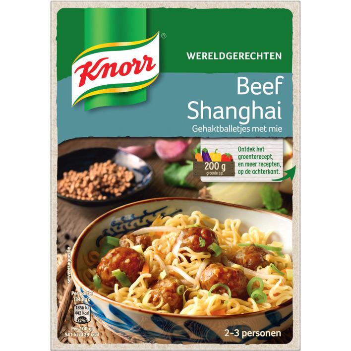 Knorr Wereldgerechten Chinese beef Shanghai