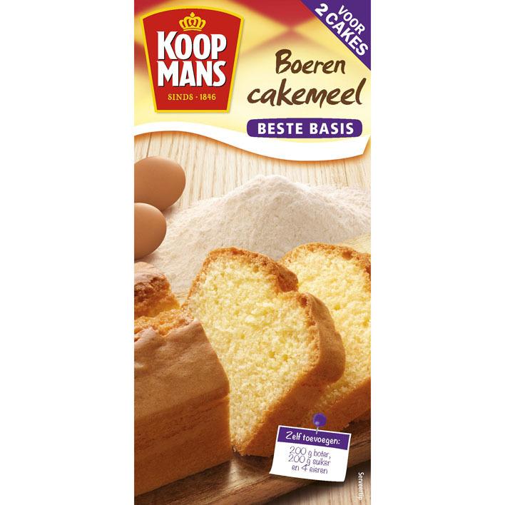 Koopmans Boerencakemeel voor 2 cakes