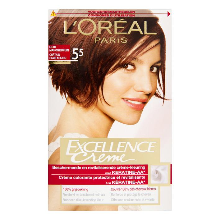 L'Oréal Excellence crème 5.5 licht mahoniebruin