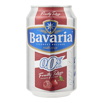 Bavaria 0.0% Alcoholvrij Fruity Rose Bier
