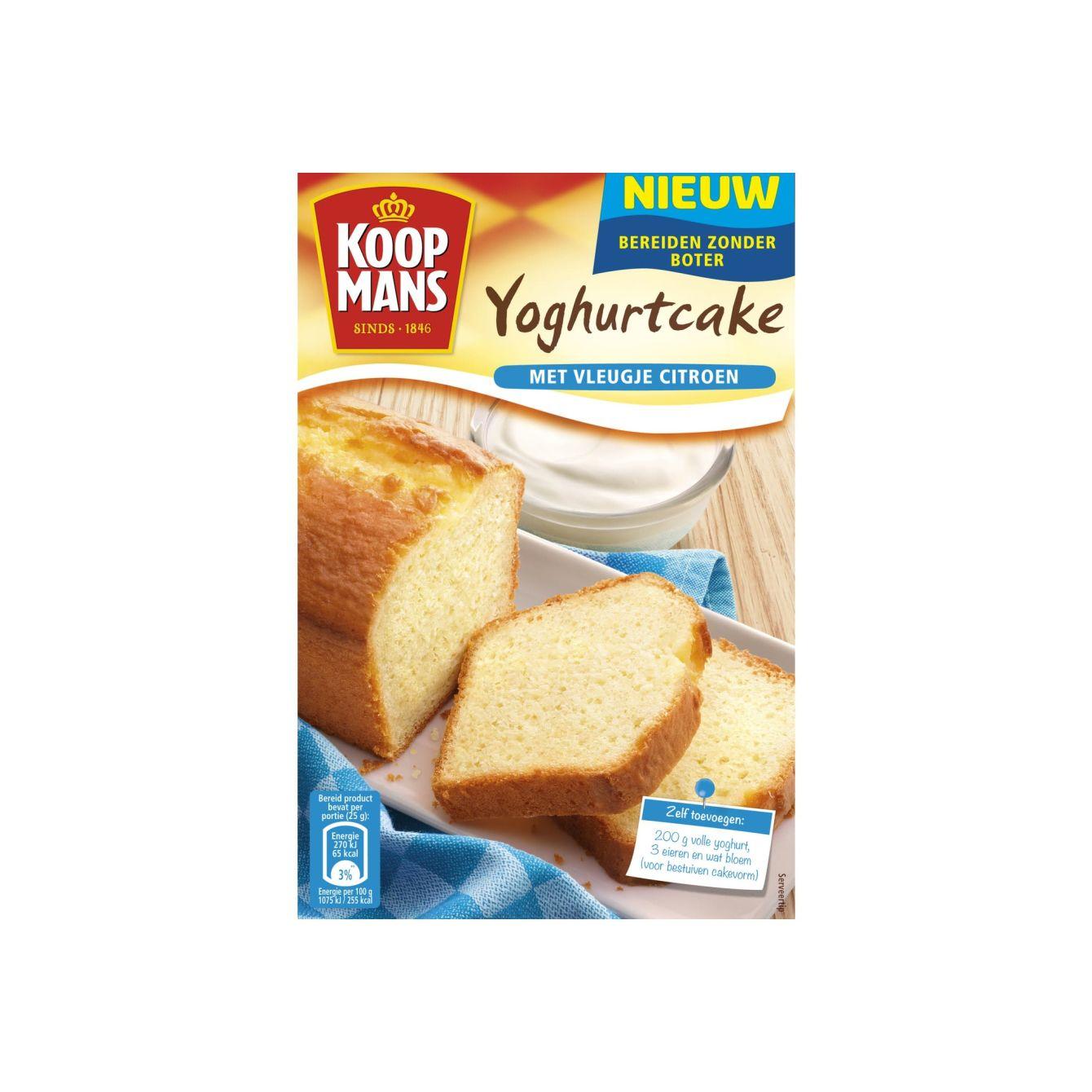 Koopmans Mix Voor Yoghurtcake Met Vleugje Citroen 370gr