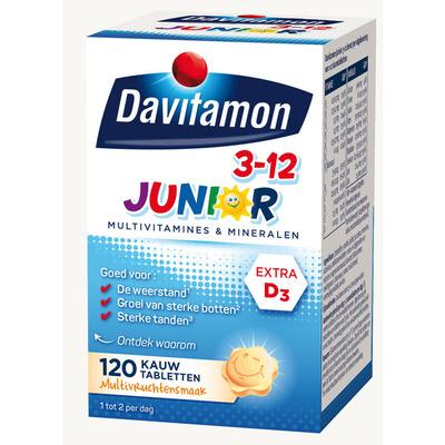Davitamon Junior kauwvitamines 3-12 jaar