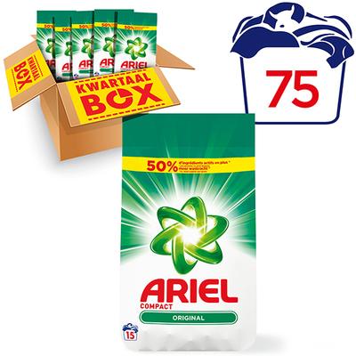 Ariel regular waspoeder kwartaalbox 75 wasbeurten