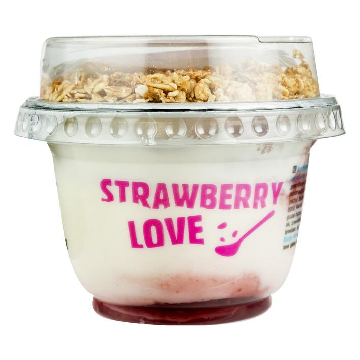 Huismerk Yoghurt muesli aardbei