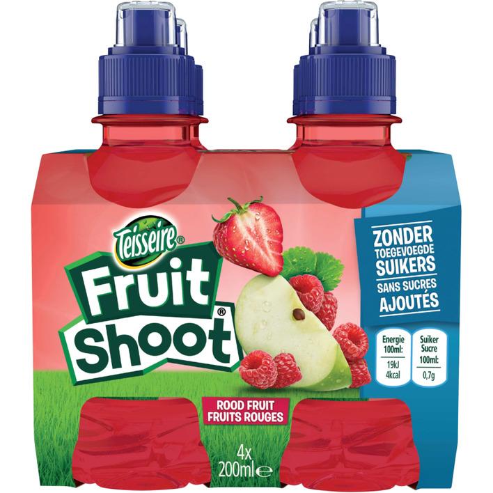 Teisseire Fruit shoot rood fruit 0% suiker