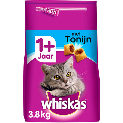 Whiskas Kattenvoer droog tonijn 1+ jaar