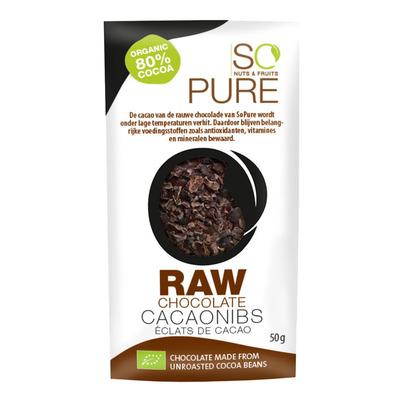 So Pure Raw chocolate cocoa nibs