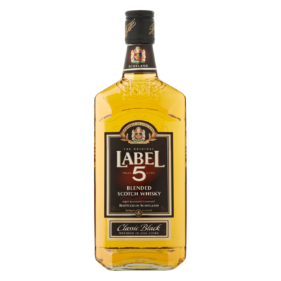 Label 5 Blended Scotch Whisky Classic Black