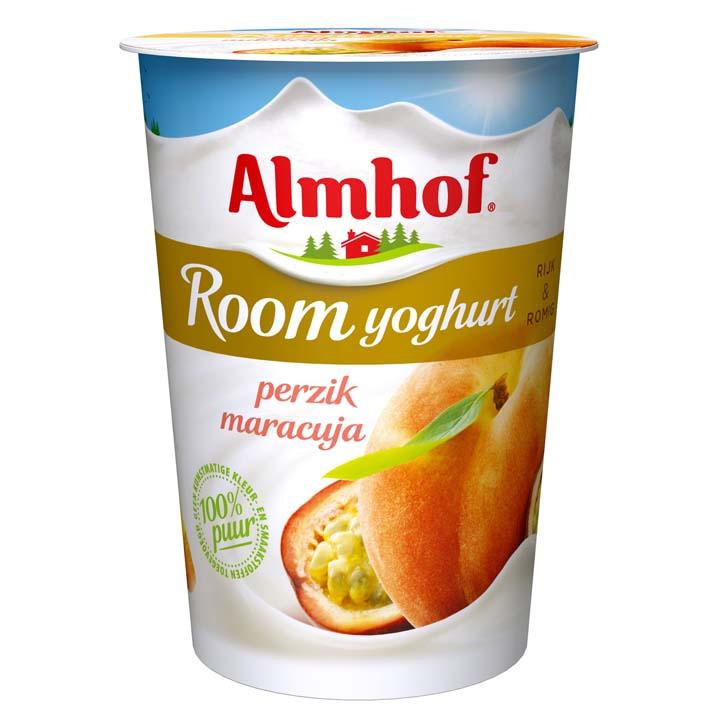 Almhof Roomyoghurt maracuja-perzik