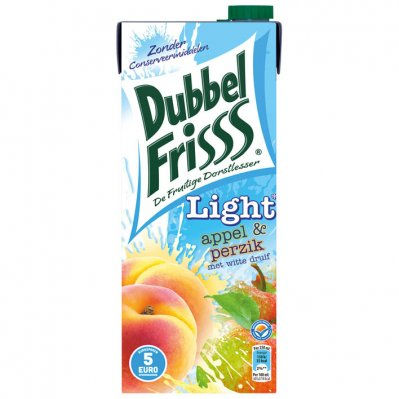 DubbelFrisss Appel & perzik light