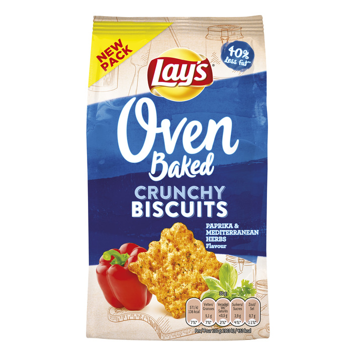 Lay's Oven biscuits paprika & kruiden
