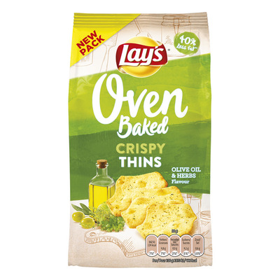 Lay's Oven crispy thins olijf & kruiden