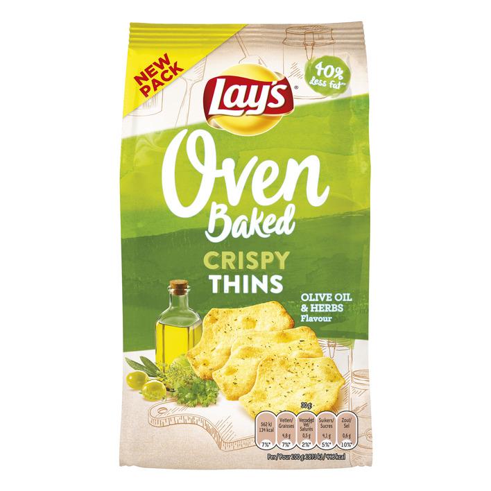 Lay's Oven crispy thins olijf & kruiden