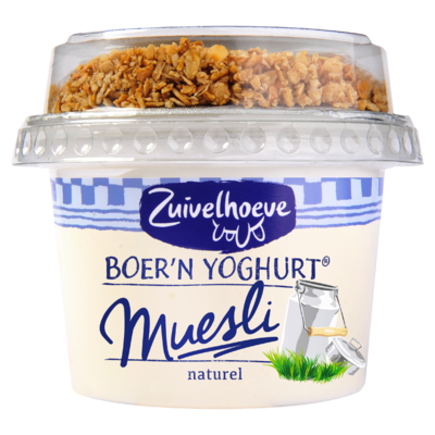Zuivelhoeve Boer'n Yoghurt Naturel & Muesli 170 g