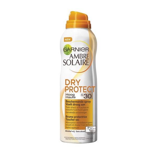 Ambre Solaire zonnebrand Dry Protect Spray factor 30