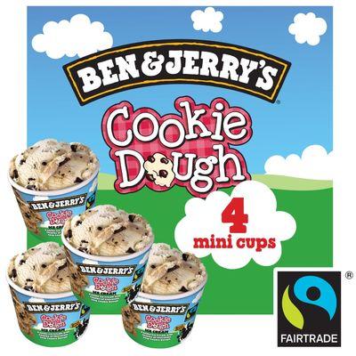 Ben & Jerry's Multipack Cookie Dough Ijs